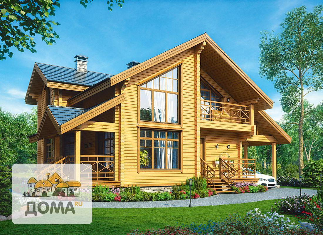 Как сделать деревянный двухэтажный дом
